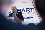 United States Congressman, 17th District, Mike Honda, delivers a speech during VTA's BART Silicon Valley Extension Celebration in San Jose, California, on August 20, 2014. (Stan Olszewski/SOSKIphoto)