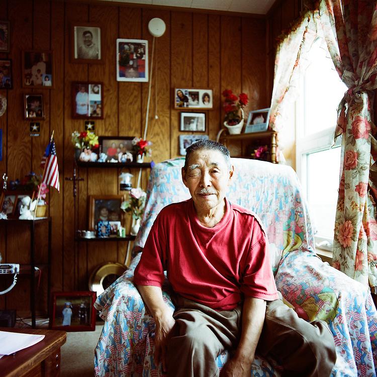 NEWTOK, ALASKA - 2008: Elder Peter John.
