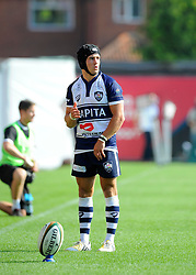 Bristol Fly-Half Matthew Morgan lines up a kick  - Photo mandatory by-line: Joe Meredith/JMP - Mobile: 07966 386802 - 7/09/14 - SPORT - RUGBY - Bristol - Ashton Gate - Bristol Rugby v Worcester Warriors - The Rugby Championship