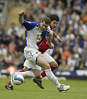 Photo: Aidan Ellis.<br /> Blackburn Rovers v Arsenal. The FA Barclays Premiership. 19/08/2007.<br /> Rovers Brett Emerton holds of Arsenal's Cesc Fabregas
