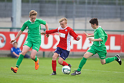 NEWPORT, WALES - Thursday, May 28, 2015: South WPL Academy Boys' Isaac Davies during the Welsh Football Trust Cymru Cup 2015 at Dragon Park. (Pic by David Rawcliffe/Propaganda)