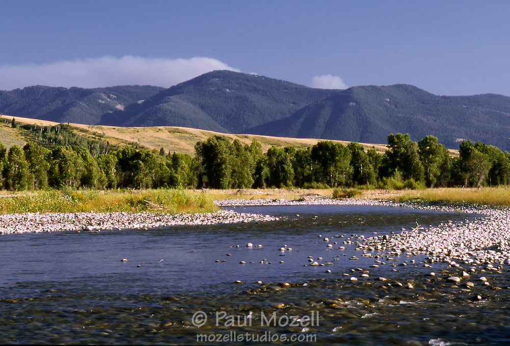 The Snake River in the foothills of The Grand Tetons, Wyoming