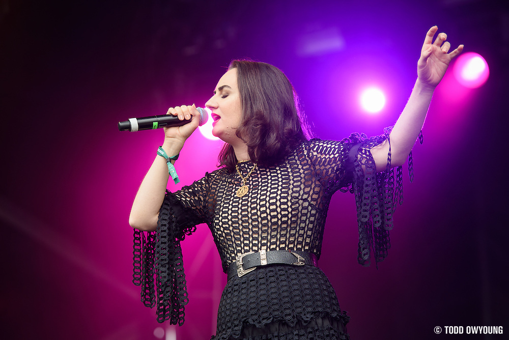 Meg Mac photographed performing at the Governors Ball Music Festival on Randalls Island in New  York City on June 3, 2016