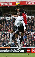 Photo: Steve Bond/Sportsbeat Images.<br />Derby County v Blackburn Rovers. The FA Barclays Premiership. 30/12/2007. Roque Santa Cruz (R) gets above Claude Davis (L)