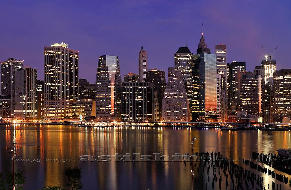 Manhattan at morning from Brooklyn