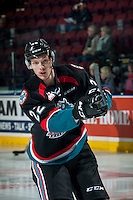 KELOWNA, CANADA - NOVEMBER 15: Braydyn Chizen #22 of the Kelowna Rockets warms up against the Prince George Cougars on November 15, 2016 at Prospera Place in Kelowna, British Columbia, Canada.  (Photo by Marissa Baecker/Shoot the Breeze)  *** Local Caption ***