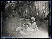 toddler with dog portrait France 1921
