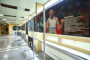 WARSAW, POLAND - APRIL 23: Sportissima - photo exhibition by Adam Nurkiewicz display during science conference The Day of Sport at National Library on April 23, 2016 in Warsaw, Poland.<br /> <br /> Picture also available in RAW (NEF) or TIFF format on special request.<br /> <br /> Any editorial, commercial or promotional use requires written permission from the author of image.<br /> <br /> Adam Nurkiewicz declares that he has no rights to the image of people at the photographs of his authorship.<br /> <br /> Mandatory credit:<br /> Photo by &copy; Adam Nurkiewicz / Mediasport