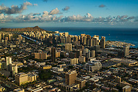 Ala Moana (foreground), Waikiki & Diamond Head Crater