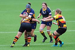 Stacey Maguire of Worcester Valkyries is challenged by Alice Soper of Richmond Women- Mandatory by-line: Nizaam Jones/JMP - 22/09/2018 - RUGBY - Sixways Stadium - Worcester, England - Worcester Valkyries v Richmond Women - Tyrrells Premier 15s