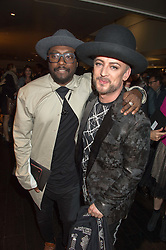 Left to right, WILL.I.AM and BOY GEORGE at the Al Films and Warner Music Screening of Kill Your Friends held at the Curzon Soho Cinema, 99 Shaftesbury Avenue, London on 27th October 2015.