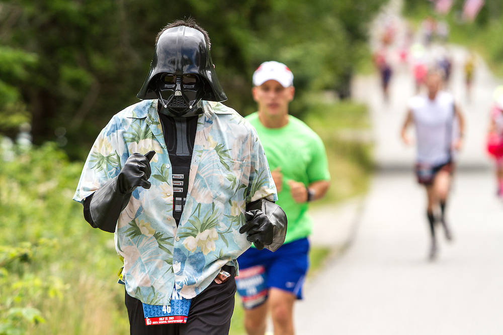 Great Cranberry Island Ultra 50K road race: Darth Vader, aka Hideki Kinoshita