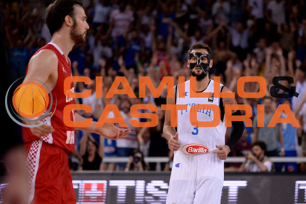 DESCRIZIONE: Torino FIBA Olympic Qualifying Tournament Italia - Croazia<br /> GIOCATORE: Marco Belinelli<br /> CATEGORIA: Nazionale Italiana Italia Maschile Senior<br /> GARA: FIBA Olympic Qualifying Tournament Italia - Croazia<br /> DATA: 05/07/2016<br /> AUTORE: Agenzia Ciamillo-Castoria
