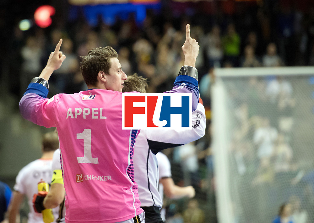 BERLIN - Indoor Hockey World Cup<br /> Final: Germany - Austria<br /> foto: Mark Appel (GK)  <br /> WORLDSPORTPICS COPYRIGHT FRANK UIJLENBROEK