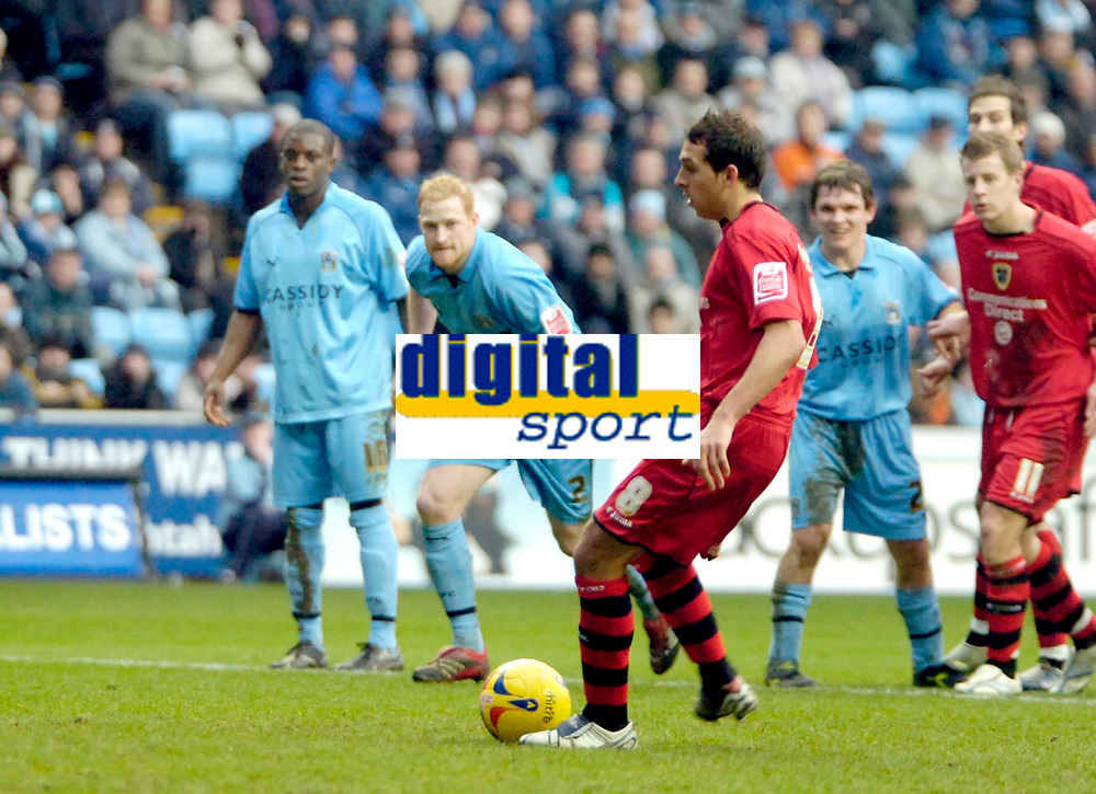 Photo: Ed Godden/Sportsbeat Images.<br />Coventry City v Cardiff City. Coca Cola Championship. 10/02/2007. Cardiff's Michael Chopra scores from the penalty spot.