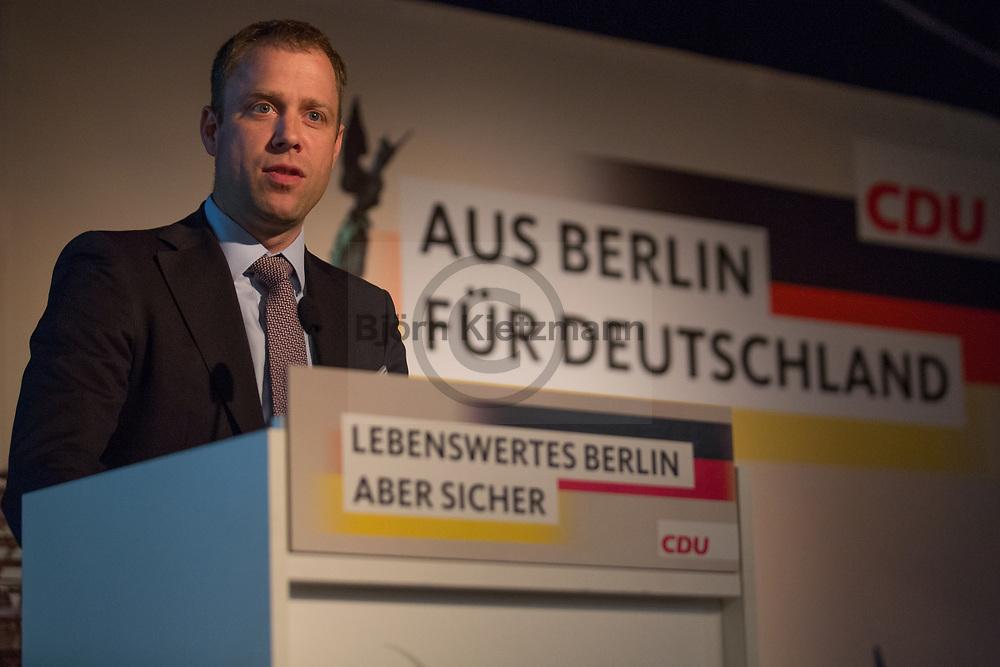 Berlin, Germany - 16.05.2017<br /> <br /> Mario Czaja, CDU-Abgeordneter und ehemaliger Berliner Senator f&uuml;r Gesundheit und Soziales beim Buergerkonvent der CDU Berlin.<br /> <br /> Photo: Bjoern Kietzmann