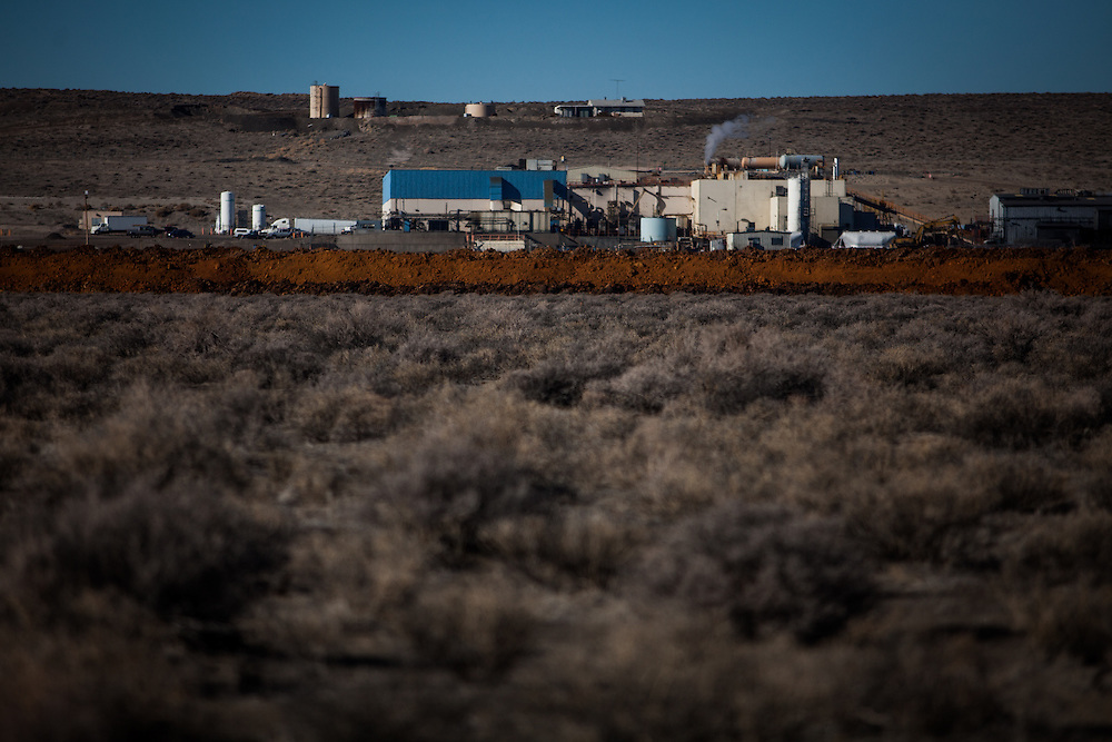 The Kennametal tungsten kiln sits about 10 miles north of Fallon, Nevada, February 5, 2014.