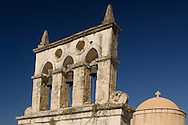 The church of the Dormition of the Virgin Mary in Kyrianna not far from the Arkadhi Monastery.  Crete, Greece