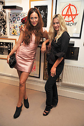 Left to right, MARY FELLOWES and ANGIE KURDASH at the opening of his pop up shop at 35 South Audley Street, London W1 on 19th September 2009.