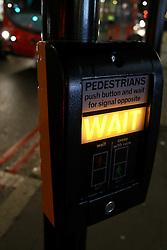 UK ENGLAND LONDON 26MAR14 - Pedestrian crossing signal at Edgware Road, Paddington, central London.<br /> <br /> jre/Photo by Jiri Rezac<br /> <br /> © Jiri Rezac 2014