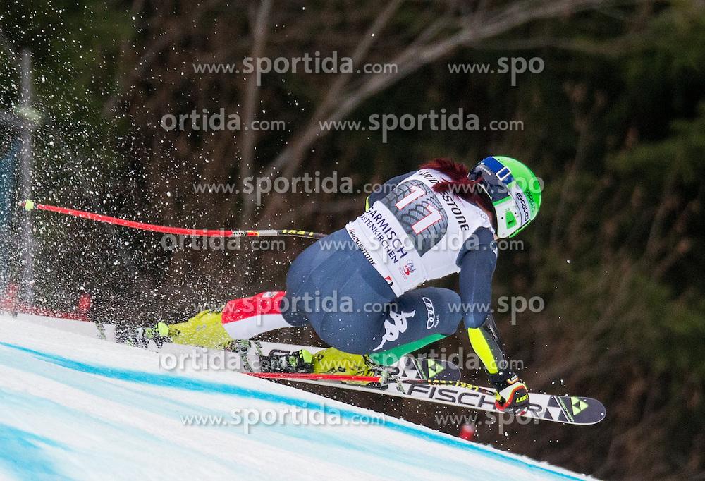 07.02.2016, Kandahar, Garmisch Partenkirchen, GER, FIS Weltcup Ski Alpin, Super G, Damen, im Bild Johanna Schnarf (ITA) // Johanna Schnarf of Italy competes during the ladies SuperG of Garmisch FIS Ski Alpine World Cup at the Kandahar course in Garmisch Partenkirchen, Germany on 2016/02/07. EXPA Pictures © 2016, PhotoCredit: EXPA/ Johann Groder