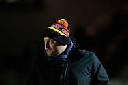 Dragons' Head Coach Bernard Jackman during the pre match warm up<br /> <br /> Photographer Simon King/Replay Images<br /> <br /> Guinness Pro14 Round 10 - Dragons v Ulster - Friday 1st December 2017 - Rodney Parade - Newport<br /> <br /> World Copyright © 2017 Replay Images. All rights reserved. info@replayimages.co.uk - www.replayimages.co.uk
