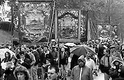 Grimethorpe, Shafton Workshops, Barnsley Area Road Transport Branch banners. 1991 Yorkshire Miners Gala. Doncaster.