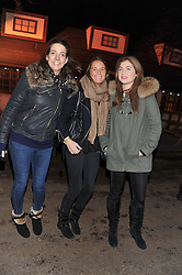 Left to right, MARTHA BEAUMONT, VICTORIA VON WESTENHOLZ and NATASHA ALLSOPP at the opening of the 2012 Winter Wonderland, Hyde Park on 22nd November 2012.