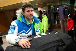 Damir Eibel at reception of Slovenia team arrived from Winter Olympic Games Sochi 2014 on February 24, 2014 at Airport Joze Pucnik, Brnik, Slovenia. Photo by Vid Ponikvar / Sportida