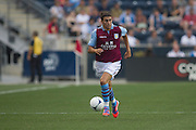 Alan Hutton of Aston Villa during a match between Aston Villa FC and Philadelphia Union at PPL Park in Chester, Pennsylvania, USA on Wednesday July 18, 2012. (photo - Mat Boyle)