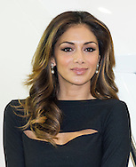 Nicole Scherzinger on The Sunseeker stand where she unveiled the new Sunseeker Predator 57 at the London Boat Show at ExCel in London