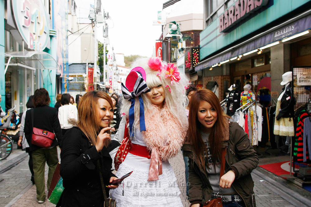 April 16, 2008; Tokyo, Japan - Takeshita Dori in Harajuku...Photo credit: Darrell Miho