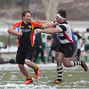 Players in action during the Four Leaf 15s Rugby Tournament which attracted over 60 clubs teams from New York and Interstate held at Randall's Island Park, New York,  USA. 21st March 2015. Photo Tim Clayton