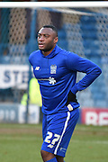 Bury Defender, Nathan Cameron warms up before the The FA Cup fourth round match between Bury and Hull City at Gigg Lane, Bury, England on 30 January 2016. Photo by Mark Pollitt.