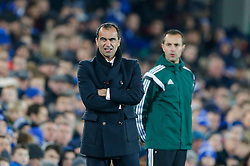 Everton Manager Roberto Martinez looks on - Photo mandatory by-line: Rogan Thomson/JMP - 07966 386802 - 06/11/2014 - SPORT - FOOTBALL - Goodison Park, Liverpool - Everton v LOSC Lille Metropole - UEFA Europa League Group H.