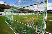 Home Park goal mouth before the Sky Bet League 2 match between Plymouth Argyle and York City at Home Park, Plymouth, England on 28 March 2016. Photo by Graham Hunt.