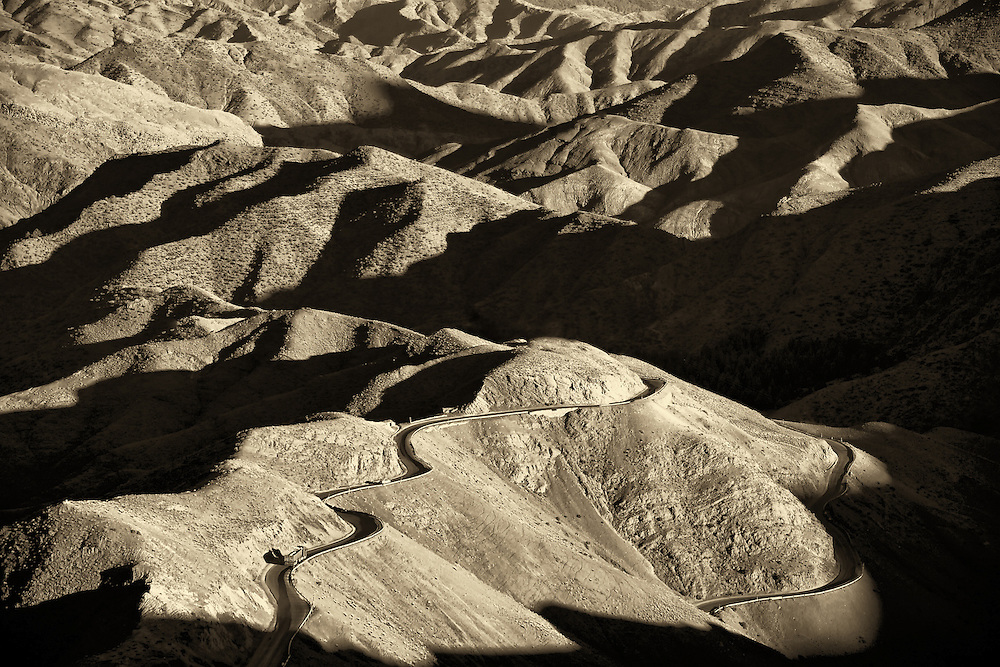 Tizi-n-Tichka pass in the High Atlas Mountains.