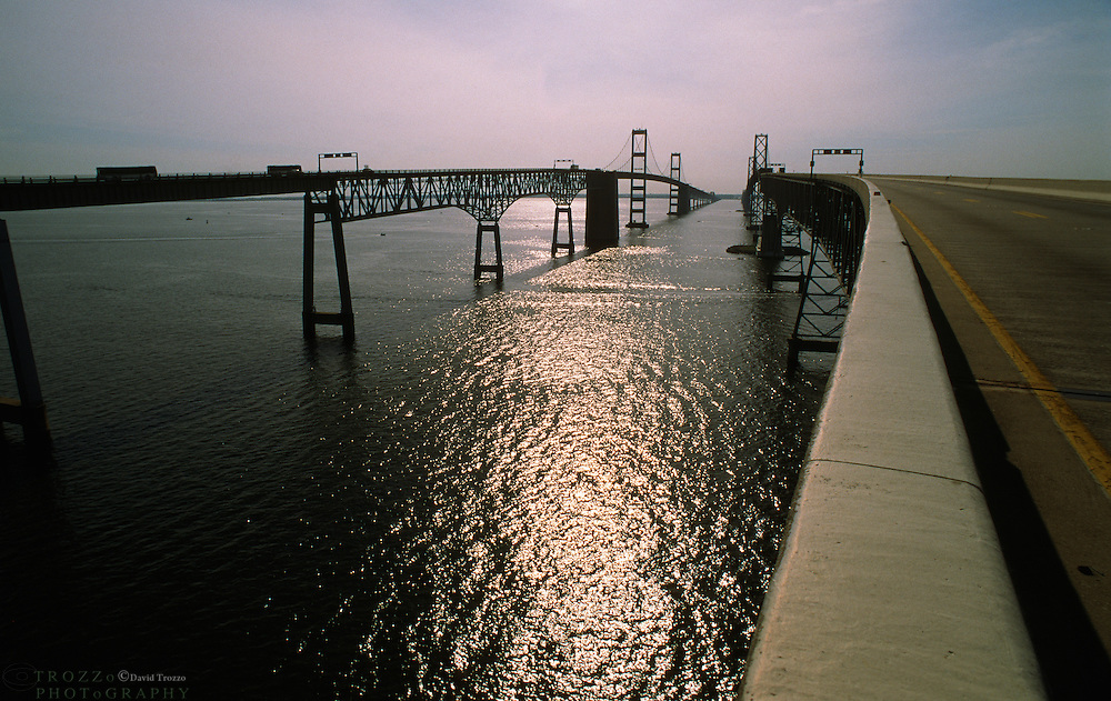 Annapolis, Maryland--The ChesapeakeBay Bridge is a major bridge in the state of Maryland; spanning 5 miles across the Chesapeake Bay, it connects the state's Eastern and Western Shore regions.It is officially named theWilliam Preston Lane, Jr. Memorial BridgeafterWilliam Preston Lane, Jr.who, asgovernor of Maryland, implemented its construction.