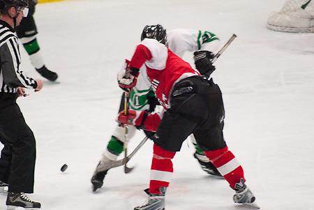 East vs. West in Minneapolis High School Hockey.