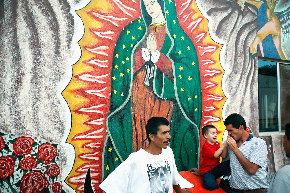 Men stay in a drug and alcohol rehabilitation complex called CREEDA, in Agua Perieta, Mexico. Drugs have been come a much bigger problem on Mexican/US border towns in recent years.