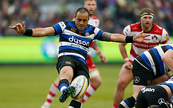 Bath's Kahn Fotuali'i during the Aviva Premiership match at the Recreation Ground, Bath.