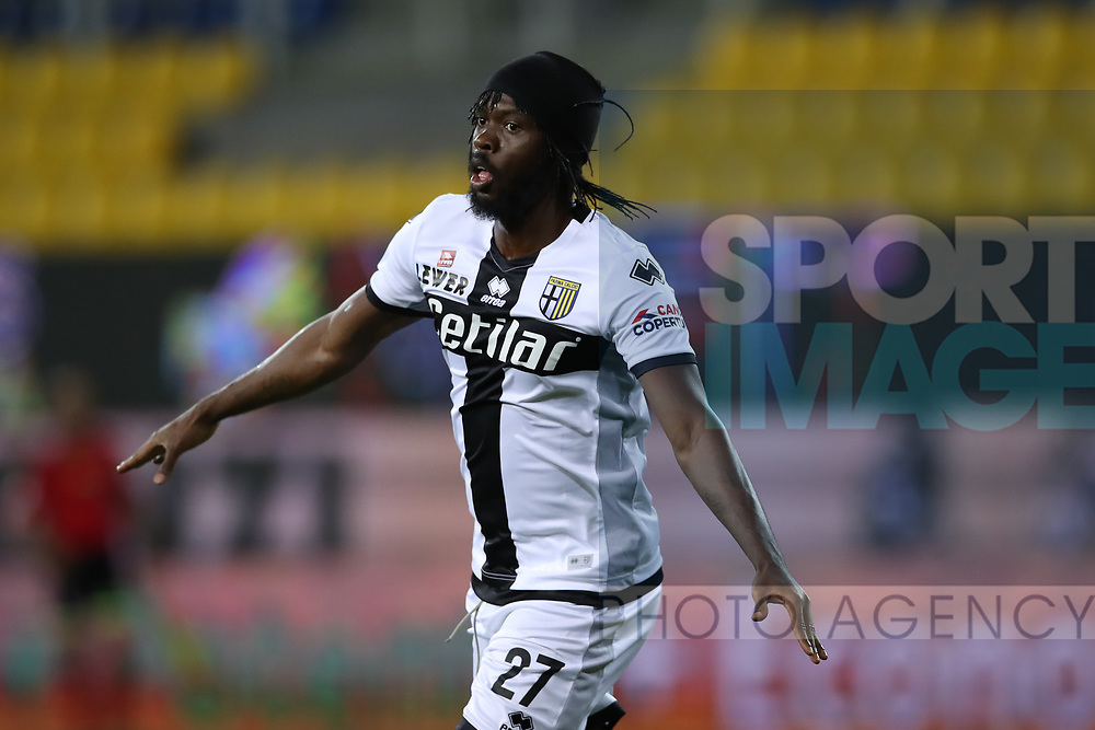 Parma Calcio's Ivorian striker Gervinho celebrates after scoring to give the side a 1-0 lead during the Serie A match at Stadio Ennio Tardini, Parma. Picture date: 28th June 2020. Picture credit should read: Jonathan Moscrop/Sportimage