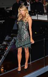 Paris Hilton attends Roberto Cavalli's boat party at the Cannes Film Festival. France. 22/05/2013<br />BYLINE MUST READ : JAMESY/GOTCHA IMAGES<br /><br />Copyright by © Gotcha Images Ltd. All rights reserved.<br />Usage of this image is conditional upon the acceptance <br />of Gotcha Images Ltd, terms and conditions available at<br />www.gotchaimages.com