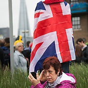 Celebrations in London, UK for Queen Elizabeth II Diamond Jubilee. 60 years as monarch in Britain.
