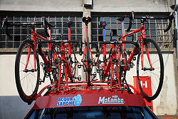 Bikes at the car`s roof after 1st stage of the 15th Tour de Slovenie from Ljubljana to Postojna (161 km) , on June 11,2008, Slovenia. (Photo by Vid Ponikvar / Sportal Images)/ Sportida)