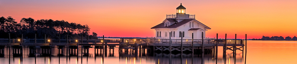 Roanoke Marshes Lighthouse<br /> On the waterfront of Manteo,NC, the Roanoke Marshes Light  <br /> is a reconstruction of the square cottage-style screw-pile <br /> lighthouse which stood at the southern entrance to <br /> Croatan Sound, near Wanchese.