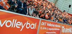 09-06-2019 NED: Golden League Netherlands - Spain, Koog aan de Zaan<br /> Fourth match poule B - The Dutch beat Spain again in five sets in the European Golden League / Sporthal de Koog, Dutch support, orange