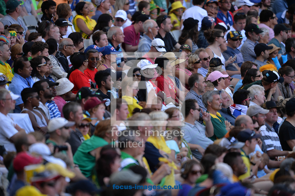 A general view of fans during the 2015 ICC Cricket World Cup match at Melbourne Cricket Ground, Melbourne<br /> Picture by Frank Khamees/Focus Images Ltd +61 431 119 134<br /> 14/02/2015