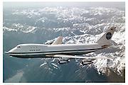 Early Pan Am 747 flight.