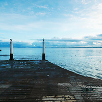 Landmark pier near Lisbon's old town